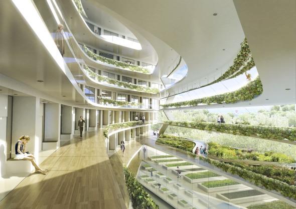 Escuela verde en estocolomo noticias de arquitectura for Jardines colgantes para interiores