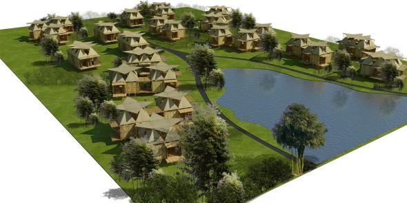 Propuestas de autoconstrucción: Blooming Bamboo, viviendas de bajo costo y gran belleza