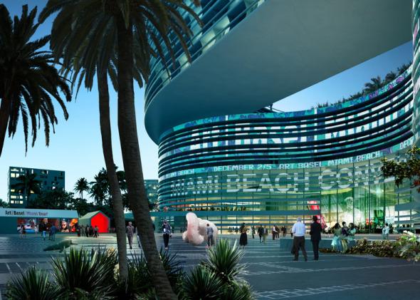Propuesta de OMA para remodelar el Centro de convenciones en Miami Beach