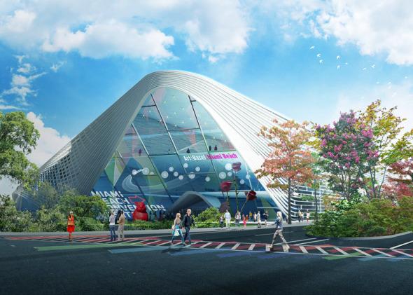 Propuesta de BIG para remodelar el Centro de convenciones en Miami Beach