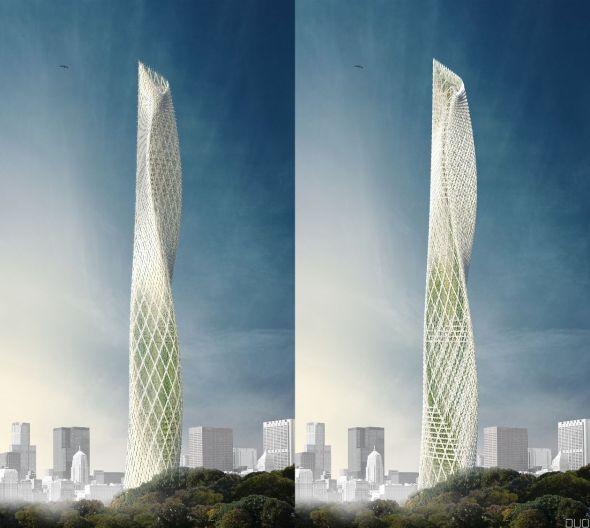 Rascacielos que florece