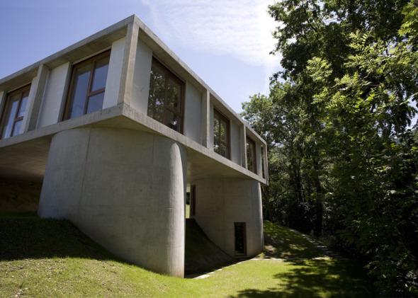 Casa en contra de la topografía