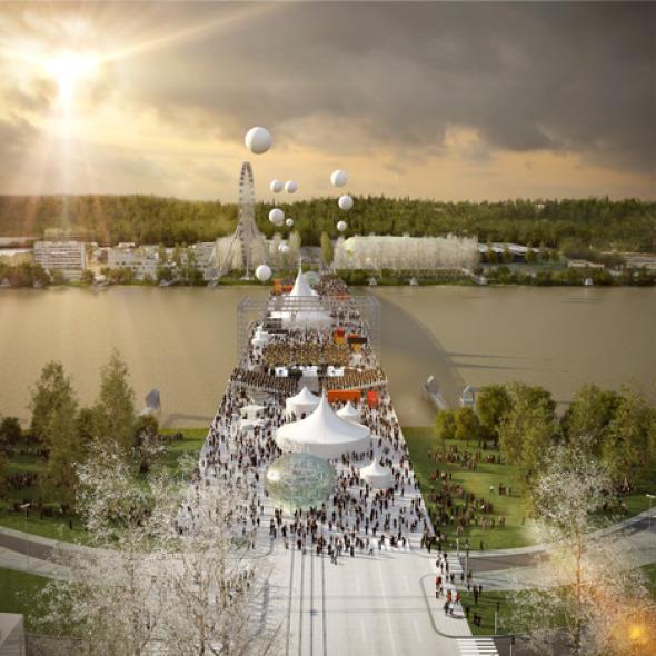 OMA finalista para proyecto de puente multiusos en Francia