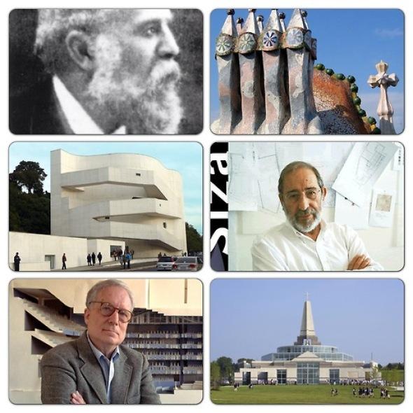 Feliz cumpleaños Alvaro Siza, Antoni Gaudí y Robert Venturi