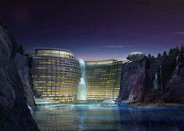 Hotel construido en una cueva