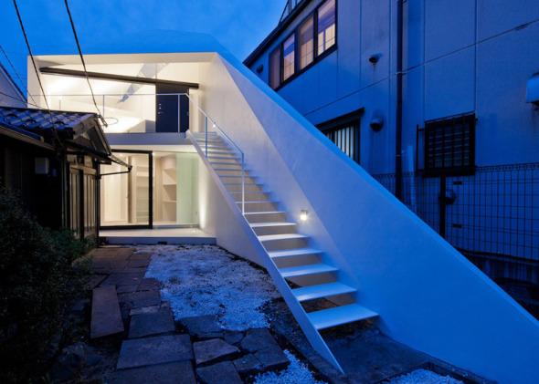 Casa diagonal en Tokio