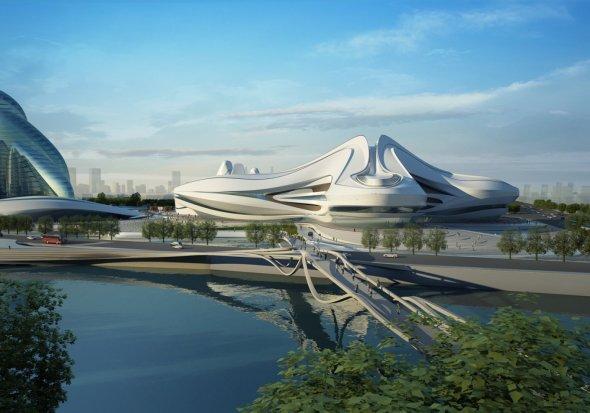 Centro Internacional de Cultura y las Artes en China diseñado por Zaha Hadid