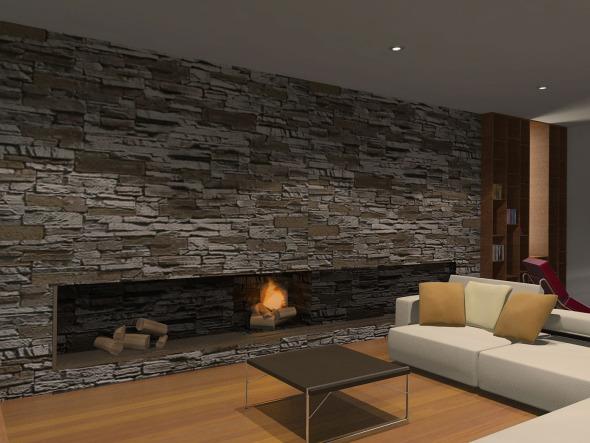 Interiores de casas en piedra v rias - Piedra para interiores ...