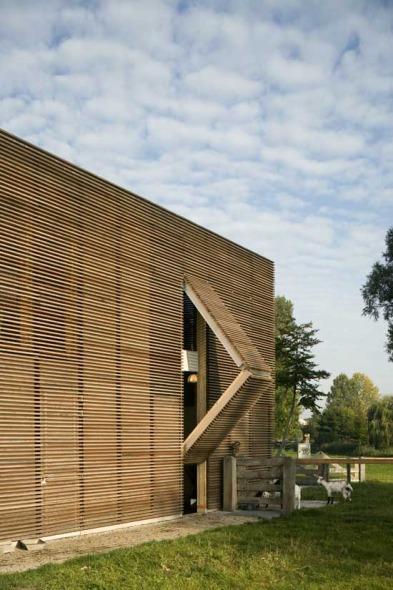 Madera para una granja muy contempor nea noticias de - Arquitectura en madera ...