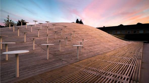 Bjarke Ingels diseña salón de usos múltiples de su antigua secundaria