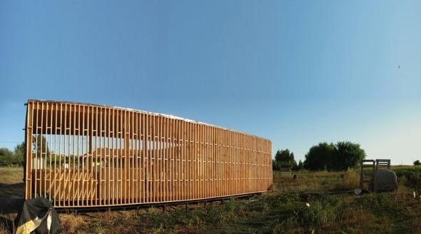 Pabellón de madera
