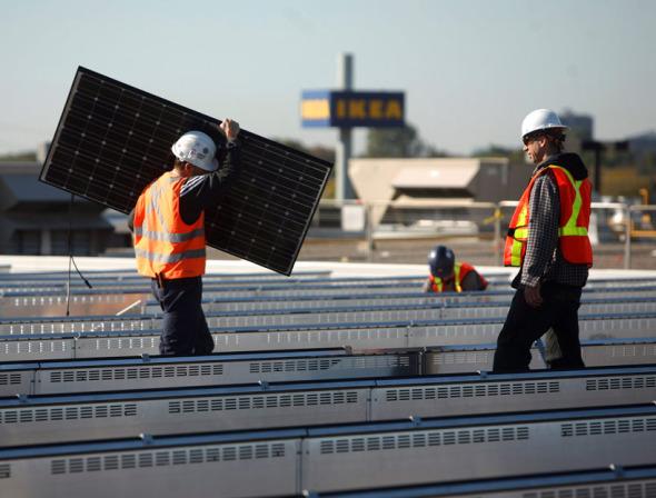 Paquete de paneles solares planos IKEA para vivienda residencial