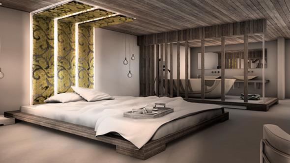 Interiores de hotel de lujo