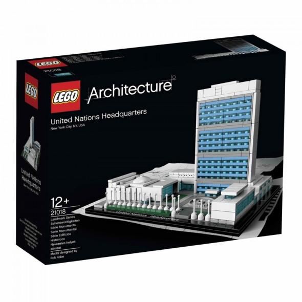 Arma Edificio de la ONU con LEGO