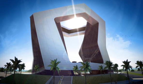 Edificio origami en Cancún
