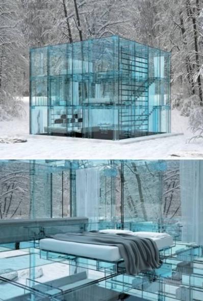 11 asombrosas casas de cristal noticias de arquitectura for All glass house plans