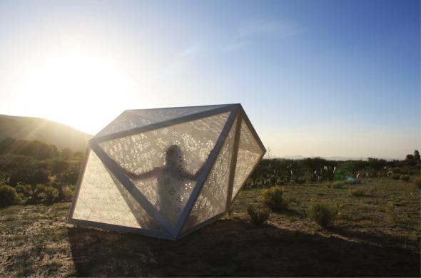 Refugio tradicional mexicano en el desierto