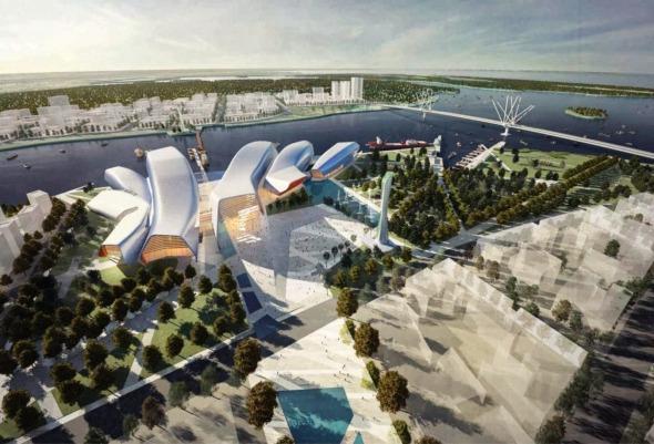 China se ha construido sobre el agua