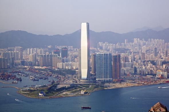 El hotel más alto del mundo. ICC de Hong Kong