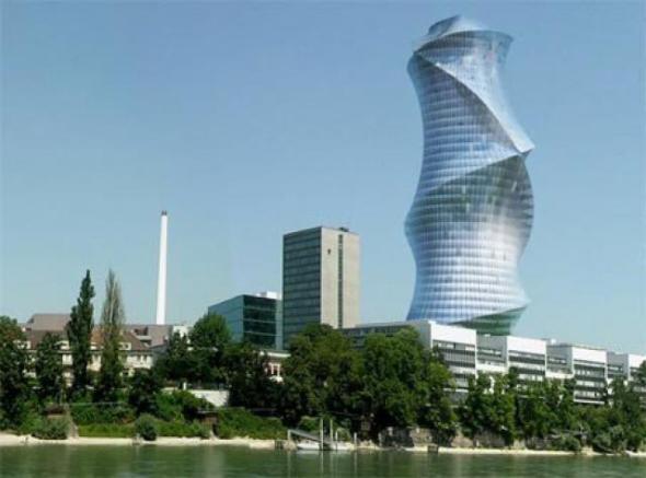 La torre más alta de Suiza en construcción