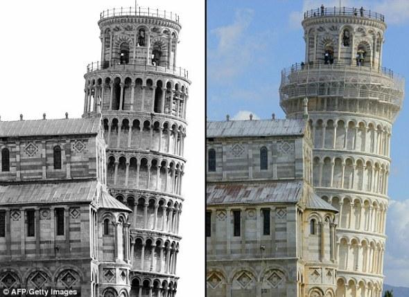 La Torre Inclinada de Pisa pierde 2.5 cm de su inclinación