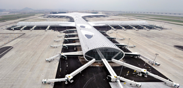Aeropuerto mantarraya en China