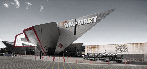 Construcción de Daniel Libeskind absorbida por un Walmart