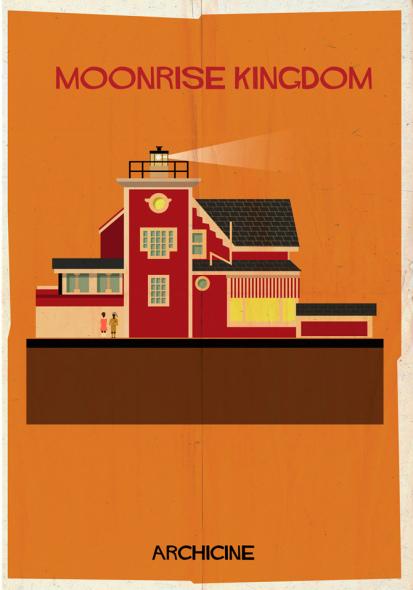 Ilustraciones de película para casas del cine. Archicine