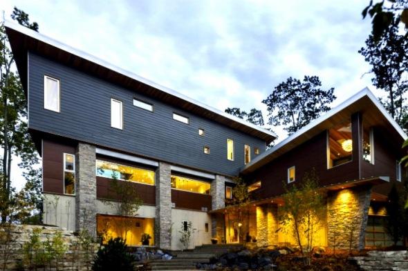 La casa que  funciona con energía hidroeléctrica y geotérmica
