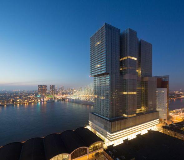 Ciudad vertical de OMA en Rotterdam