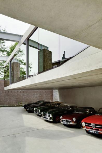 Casa para colección de autos