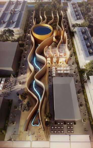 Foster diseña pabellón inspirado en las antiguas comunidades del Medio Oriente