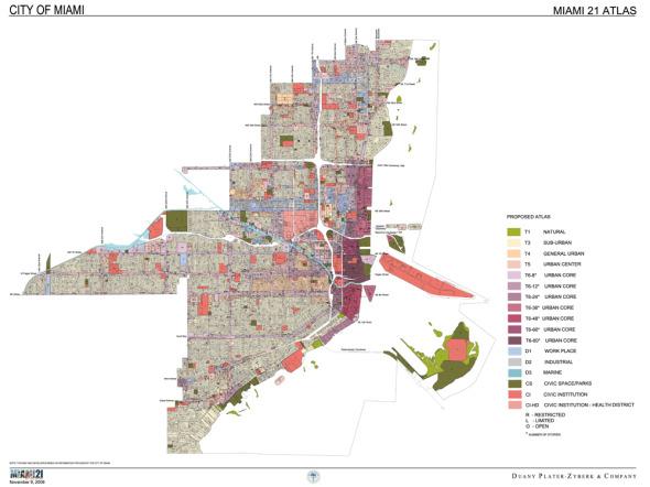 Nueva planeación de códigos de zona para Miami