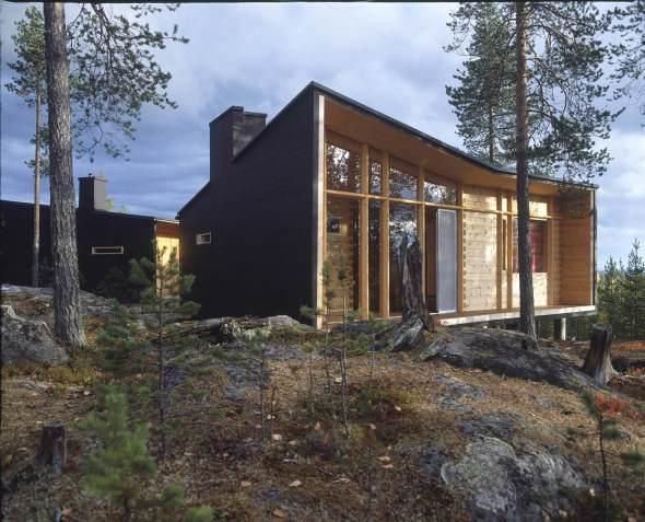 Casa moderna de madera
