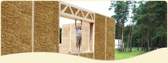 Paneles de paja, para una construcción super aislada