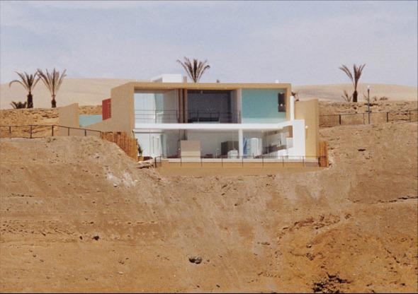 Casa en acantilado