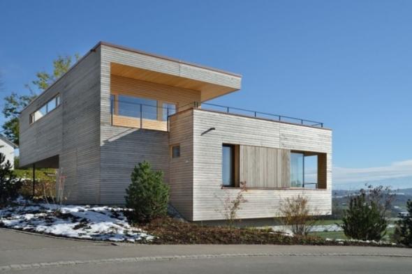 Concreto, vidrio y madera