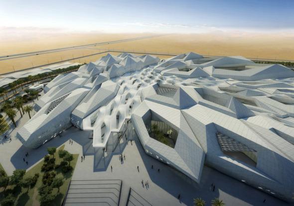 Zaha Hadid construyendo