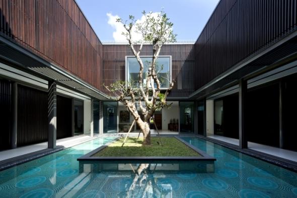 Un árbol como centro de una casa