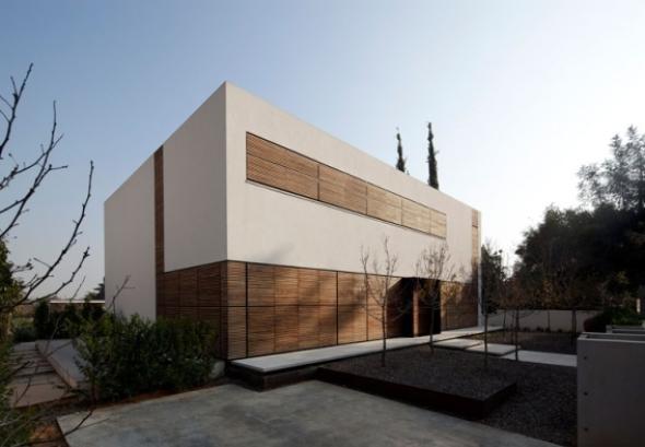 La casa de láminas de madera