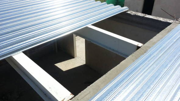 Sistema estructural Steel deck