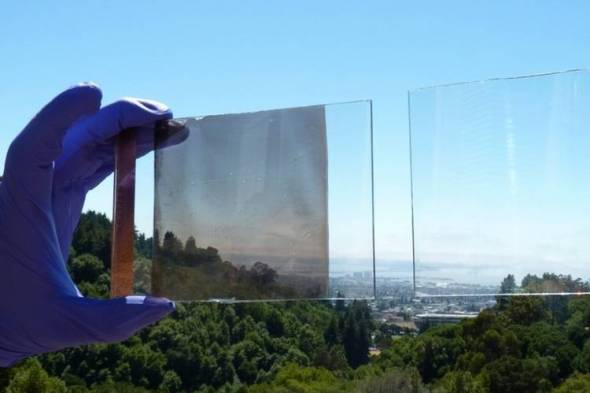 Vidrio inteligente con nanocristales