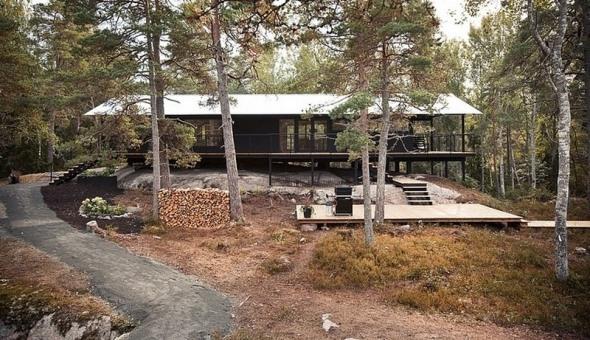 Casa vacacional en el bosque