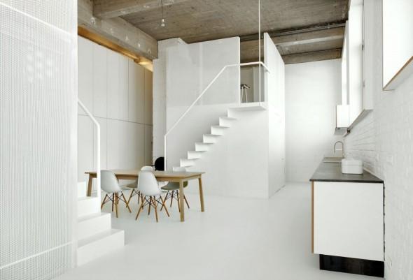 Loft en concreto y metal