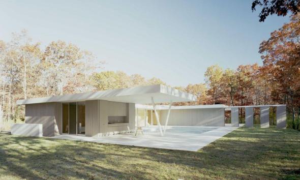 Shigeru Ban concluye casa de Mies van der Rohe