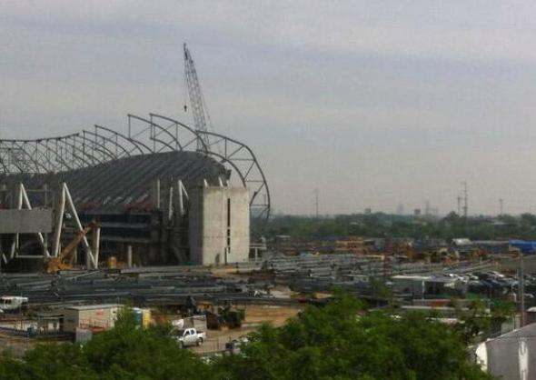 Accidente en la construcción del nuevo estadio de Monterrey
