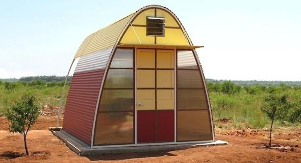Refugio sostenible que se ensambla en menos de un día