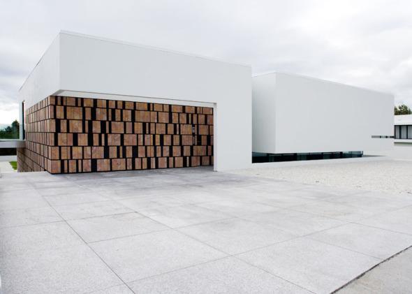 Casa con paredes de piedra volcánica