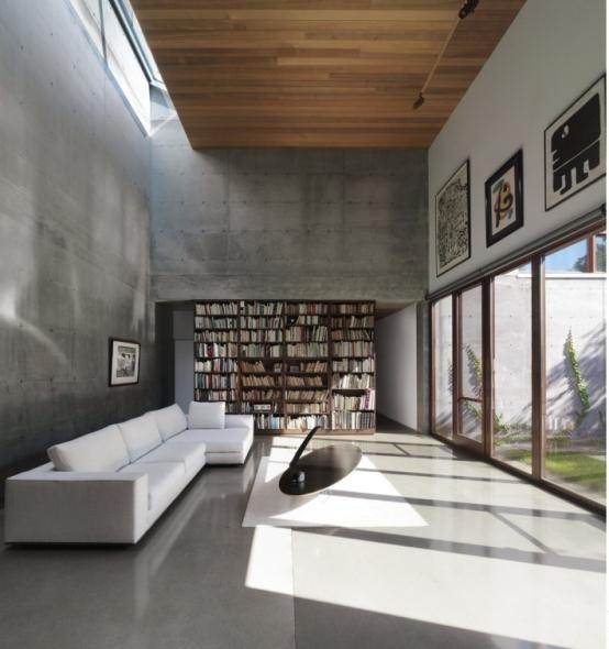 Casa de concreto para los 5 sentidos