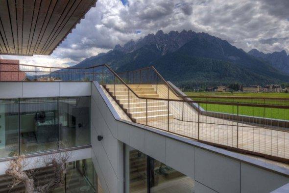 Casa cien por ciento energéticamente eficiente en los Alpes italianos